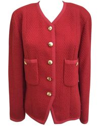 Chanel - Red Tweed Jacket - Lyst
