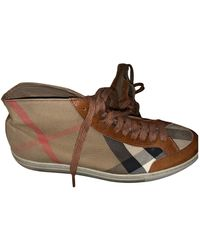 Burberry Cloth Trainers - Brown