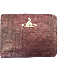 Vivienne Westwood Purple Leather Purses Wallets & Cases - Multicolour