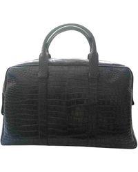 Tom Ford Alligator Weekend Bag - Black
