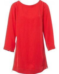 Marc By Marc Jacobs - Red Polyester Dress - Lyst