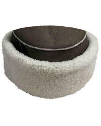 Hermès Gray Leather Hat