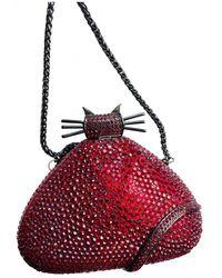 Rodo Glitter Clutch Bag - Red