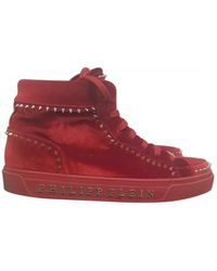 Philipp Plein High Sneakers - Red