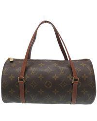 Louis Vuitton Papillon Brown Cloth Handbag