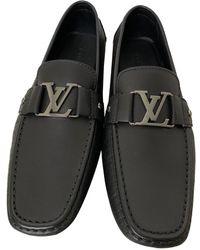 Louis Vuitton Monte Carlo Black Leather Flats