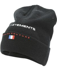 2ae01d281dc Lyst - Vetements X Reebok  haute Couture  Beanie in Black for Men