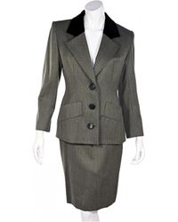 Givenchy Wool Skirt Suit - Gray