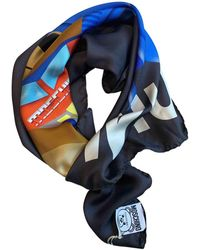 6270c86f9f Moschino Cheap and Chic - Olive Oil Silk Square Scarf in Red - Lyst