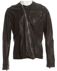 2b666a77e188 Chrome Hearts Black Leather Jacket in Black for Men - Lyst