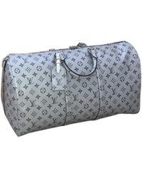 Louis Vuitton Keepall Cloth Travel Bag - Metallic
