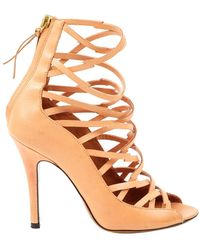 Isabel Marant Paw Leather Sandals - Natural