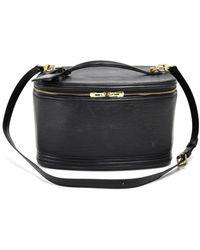Louis Vuitton Black Epi Leather Vanity Toiletry Cosmetic Travel Case