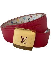 Louis Vuitton Cinturón en lona multicolor