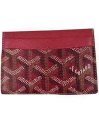 Goyard Saint Sulpice Cloth Card Wallet - Red