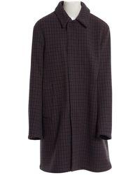 Acne Studios Navy Wool Coat - Blue