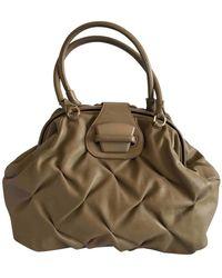 Smythson Beige Leather Handbag - Natural