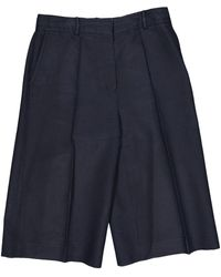 Dior Navy Silk Trousers - Blue