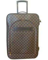 Louis Vuitton Pegase Brown Cloth Travel Bag