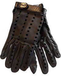 Chanel Leather Gloves - Black