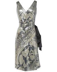 Diane von Furstenberg - Grey Polyester Dress - Lyst