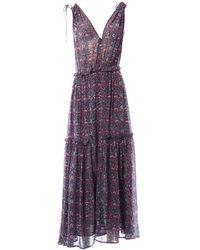 Ulla Johnson - Blue Silk Dress - Lyst