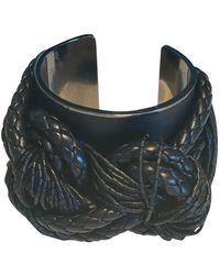 Tom Ford Black Leather Bracelet