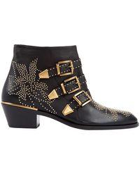 Chloé Susanna Black Leather Boots