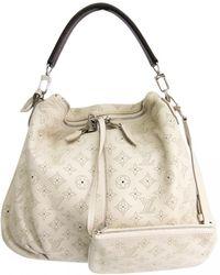 77b78e954984 Louis Vuitton Pre-owned White Leather Handbag in White - Lyst