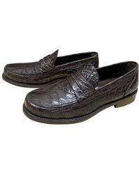 Louis Vuitton Alligator Flats - Brown