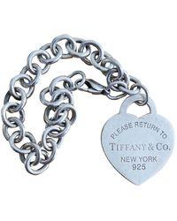 Tiffany & Co. Return To Tiffany Silver Bracelet - Blue