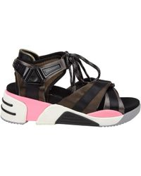 Marc Jacobs - Brown Cloth Sandals - Lyst