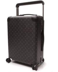Louis Vuitton Horizon 55 Leinen Reise Tasche - Schwarz