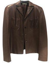CALVIN KLEIN 205W39NYC Leather Blazer - Multicolor