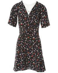 The Kooples - Black Silk Dress - Lyst