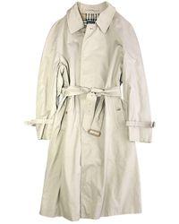 Burberry Abrigo en algodón beige - Neutro
