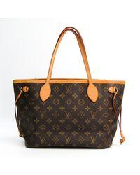 Louis Vuitton Neverfull Leinen Shopper - Braun