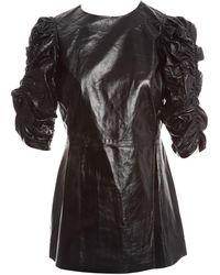 Céline Black Leather Top