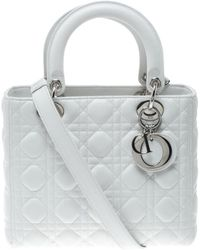 Dior - Lady White Leather - Lyst