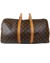 Louis Vuitton Sac souple Leinen handtaschen - Braun
