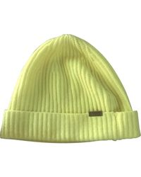 Burberry Cashmere Beanie - Yellow