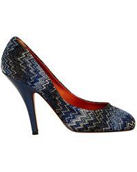 size 40 22106 43d4b Scarpe col tacco blu