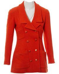 Chanel - Wool Coat - Lyst