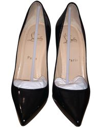 Christian Louboutin Pigalle Patent Leather Heels - Black