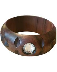 Sonia Rykiel Brown Wood Bracelet
