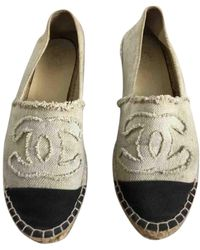 Chanel Espadrilles en Toile Beige - Neutre