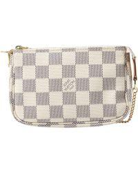 Louis Vuitton Pochette Accessoire White Leather