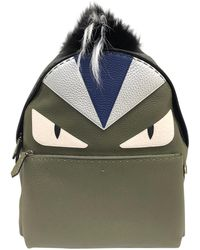 Fendi - Khaki Leather Bag - Lyst