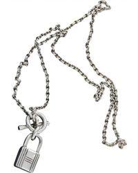 Hermès - Silver Necklace - Lyst