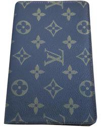 Louis Vuitton Leinen Kleinlederwaren - Blau